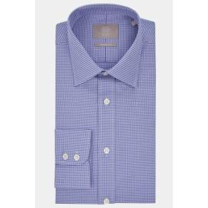 Savoy Taylors Guild Regular Fit Purple Single Cuff Textured Shirt