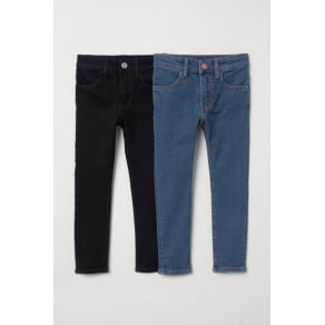 H & M - 2-pack Skinny Fit Jeans - Blue