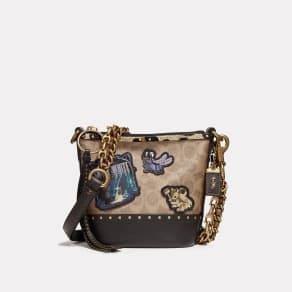 Coach Disney X Duffle 12 In Signature Patchwork