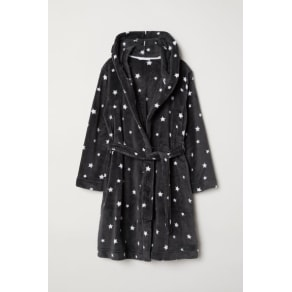 H & M - Fleece dressing gown - Grey