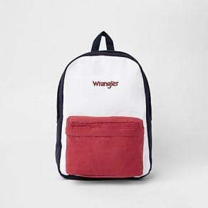 Wrangler Navy colour block backpack