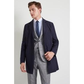 Moss London Slim Fit Navy Technical Raincoat
