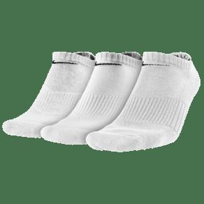 Nike 3 Pack Moisture MGT Cushion No Show Socks - Mens - White/Grey