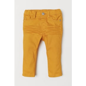 H & M - Twill trousers - Yellow