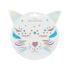 Rainbow Cat Face Stickers