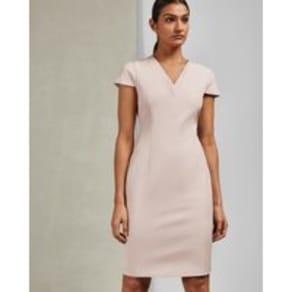 V Neck Pencil Dress
