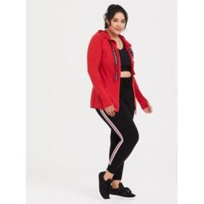 Red Hooded Active Zip Jacket