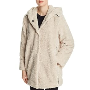 Capote Teddy Faux-Fur Hooded Jacket