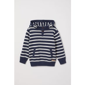 H & M - Knitted hooded jumper - Blue