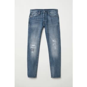H & M - Slim Straight Jeans - Blue