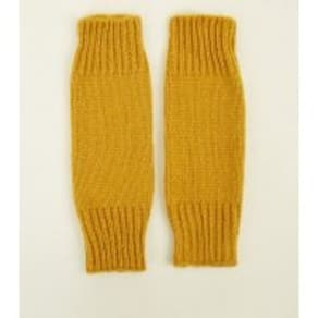 Mustard Knitted Arm Warmers New Look