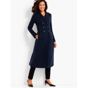 Talbots: Cashmere Officer's Coat