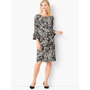 Talbots: Crepe Shift Dress: Paisley