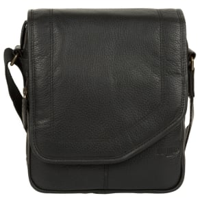 bdabf9a693a Cultured London - Black 'Trip' Small Leather Despatch Bag