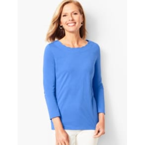 Talbots: Pima Cotton Scallop Edge Tee