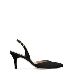 Stuart Weitzman Sleek, Black Suede, Size 9.5 Medium