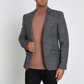 cd528fc882b9 Classic Fit Navy Wool Perfect Blazer Size 44 Regular by Charles Tyrwhitt.  £149.95 · Mens Grey check skinny blazer