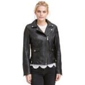 72bb91878a817 Plus Size Wilsons Leather Vintage Quilted Leather Moto Jacket.  359.99.  Wilsons Vintage Center Zip Open Collar Cycle Leather Jacket