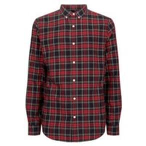 Red Tartan Check Shirt New Look