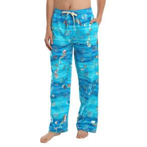 Disney The Little Mermaid Ariel Seashell Hologram Guys Pajama Pants