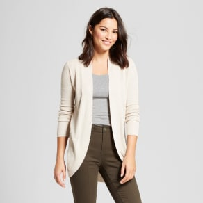 Women's Cocoon Cardigan - A New Day Heather Oatmeal M