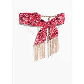 Bandana Chain Choker - Red
