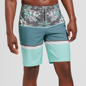 Men's 10 Stoked Board Shorts - Goodfellow & Co Aqua 34, Blue