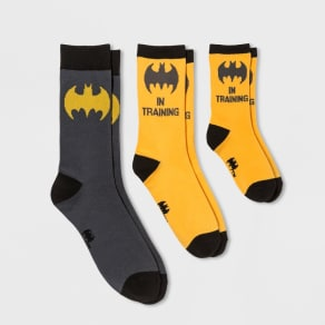 2741a988368b Men's DC Comics Batman Casual Socks 2pk - Grey M, Gray
