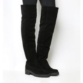 Office Notorious Over The Knee boots BLACK SUEDE
