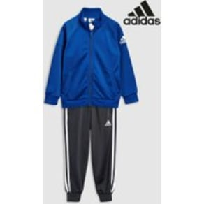 Boys adidas Blue/Black Knit Tracksuit -  Blue