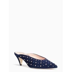 Surie Kitten Heels - Blue Stud - 3.5 (US 6)