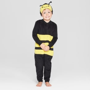 Toddler Halloween Bee Union Suit - Cat & Jack Yellow 3T, Toddler Unisex, Black