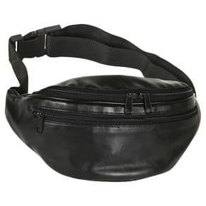 Unisex 3-Zipper Bike Bag - Black