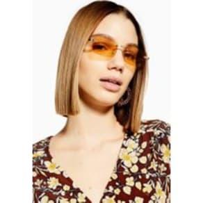 Womens Bella Rimless Sunglasses - Gold, Gold