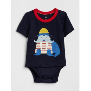 33a39b26c15 Gap Baby Graphic Body Double Dark Night Size 3-6 M