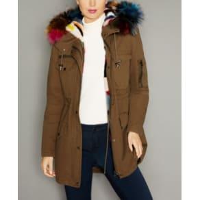The Fur Vault Hooded Fox-Trim Mink-Lined Parka