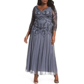 319fc87da7f Plus Size Women  039 s Pisarro Nights Embellished Double V-Neck Long Dress