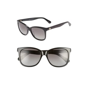 Women's Kate Spade New York Danalyn 54Mm Polarized Sunglasses - Black Polarized