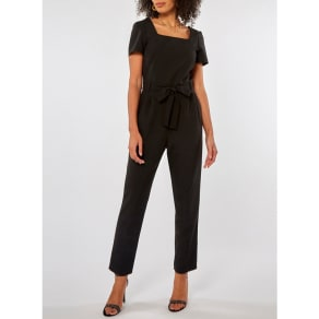 e81e110cfe7 Dorothy Perkins - Black Square Neck Belted Jumpsuit