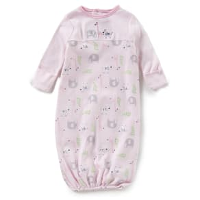 Starting Out Baby Girls Newborn-6 Months Safari-Embroidered Gown