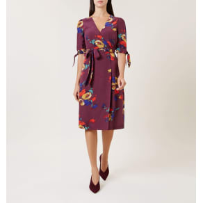 Florence Dress Bordeaux Multi 6