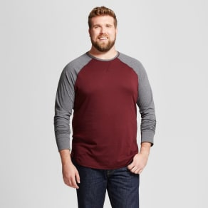 ba30dab90 Men's Tall Standard Fit Long Sleeve Baseball T-Shirt - Goodfellow