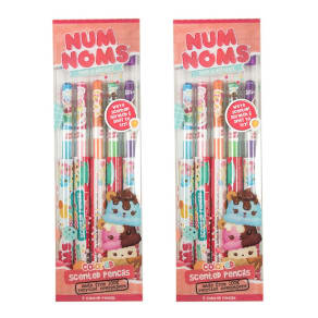 Scentco 2pk Num Noms Smencils Scented Colored Pencils 5ct, Multi-Colored