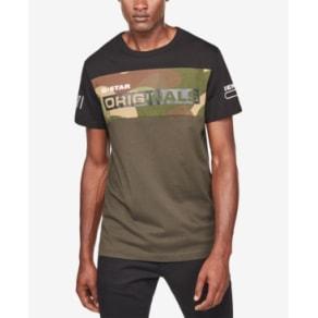 G-Star Raw Men's Colorblocked Camo T-Shirt