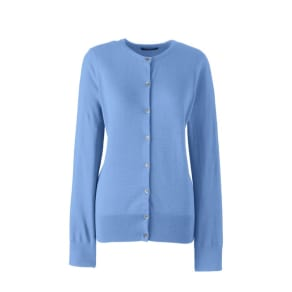 Lands' End - Blue Fine Gauge Supima Cardigan
