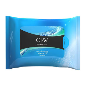 Olay Essentials Facial Sensitive Cleansing Wipes in Resealable Pouch X20