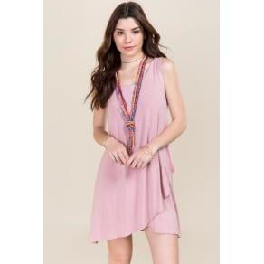 Hali Ruffle Bottom Shift Dress - Mauve