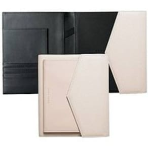 A5 Folder in Off-White Faux Leather