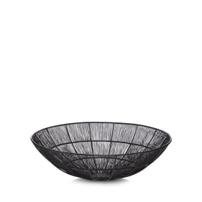 Home Collection Large Black 'Hygge' Wire Bowl