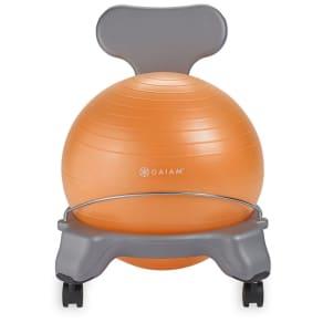 Gaiam Kids Classic Gray/Orange Balance Ball Chair